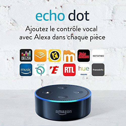 51kbFMn-HnL [Bon plan]  Amazon Echo Dot (2ème génération), Noir