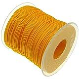 My-Bead 90m Nylonband Kordel 1mm orange wasserfest Nylonschnur Top Qualität Schmuckherstellung basteln DIY