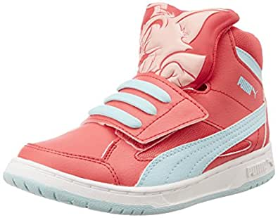 Puma Rebnd Tom&Jerry, Sneakers Hautes mixte enfant, Rose (Cayenne/Clearwater), 34 EU