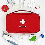Konesky Kit di pronto soccorso Viaggio Cassetta di pronto soccorso vuota portatile Borsa medica per la casa. Ufficio, macchina, luogo di lavoro, viaggio, campeggio (23 * 13 * 7.5 cm)