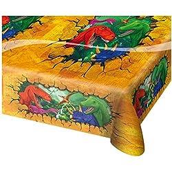 Mantel * T-Rex/Dinosaurios * para fiestas y cumpleaños de Folat//130x 180cm/Celebración/Cumpleaños infantiles Fete Juego Dinosaur Triceratops Dino dinosaurios saurier Depredadores saurier Table Cover