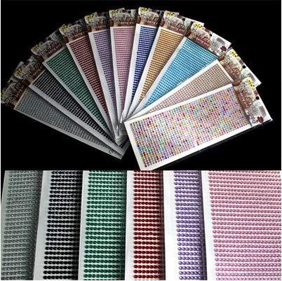 T-JPCT Pegatinas de Diamantes de imitación para teléfonos móviles de Taladro para decoración de Autos Etiquetas modificadas para refrigeradores Productos para el Interior del automóvil, Amarillo