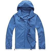 MaMaison007 Impermeabile leggero vento Coat ciclismo adatti ad asciugatura rapida abbigliamento protezione aerodinamico-blu