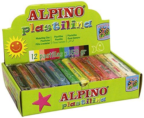 Alpino DP000918 – Plastilina, 12 unidades, multicolor