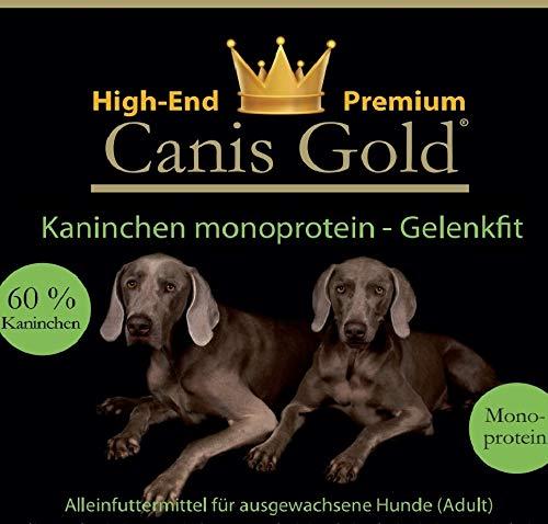 Canis Gold 10 kg Adult 60% Kaninchen | Monoprotein | getreidefreies Super Premium Hunde Trockenfutter