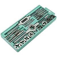 MUANI 20Pcs / Set Metric Hand Tippen und Die Set M3-M12-Schraubengewinde-Stecker Gerade Kegelreibahle Werkzeuge... preisvergleich bei billige-tabletten.eu