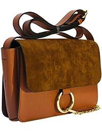 Kronya®   Elegante bandolera de cuero   Work Office Embrague Crossbody Ladies Bolso de mujer Bolso de mujer Women Leisure Strap Bolso Mochila School Satchel Shoulder Bag