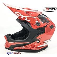 Casco 3GO infantil para motocross y quads, color rojo