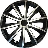 GRAL Silber/Schwarz - 14 Zoll, passend für fast alle Fiat z.B. für Fiat 500