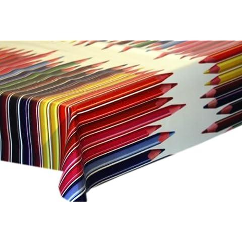 Tovaglia cerata colorati malstifte wunschlï ¿½ Nge, Vinile, multicolore, 100x140cm