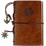 Lictin Journal Reisetagebuch Travel Tagebuch Vintage Reisetagebuch Zeichenfolge gebunden leeren Notebook Leder Notizbuch