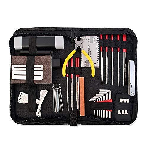 Pro Komplettes Set Musiker Gitarre Pflege Kit Reparatur Wartung Tech Tools mit Tasche
