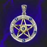 Amulette Pentacle Pentagram Universal étoile Wicca Topaz