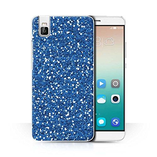 Stuff4® Hülle/Case für Huawei Honor 7i/ShotX/Bokeh Glitzer Muster/Blau Mode Kollektion