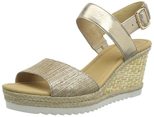 Gabor Shoes 45.790 Damen Durchgängies Plateau Sandalen, Mehrfarbig (88 ambra/space), 40 EU