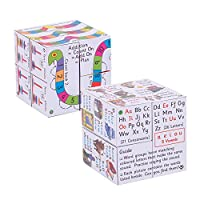 ZooBooKoo Key Stage 1 Cubebook Pack - Add & Subtract and Spelling Fold-Out Cubes