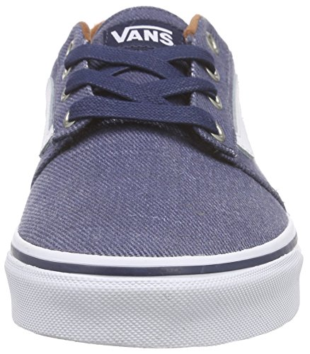 Vans Chapman Stripe, Baskets Basses Homme Bleu (T&L/Dress Blues/White)