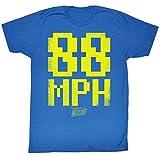 2Bhip Zurück in die zukunft science-fiction-film beunruhigt 88 stundenmeilen T-shirt für Herren X-Groß Blau