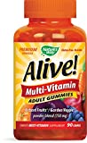 Nature's Way, Alive!, Multi-Vitamin, Adult Gummies, Cherry, Grape, and Orange Flavors, 90 Gummies by NATURE'S WAY