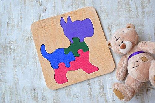 dorf Spielzeug Montessori hölzernes pädagogisches Spiel Tier Baby Spielzeug Hölzernes Puzzles Baby Geschenk Welpe Kleinkind Lernspiel Eco freundliche Kleinkind Spiel Puzzle (Kleinkind Themen Geburtstag Junge)