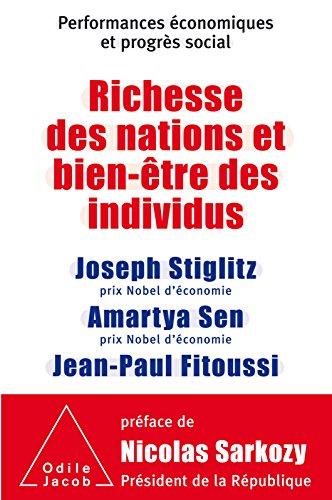 Richesse des nations et bien-être des individus.: Performances économiques et progrès social