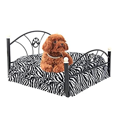 PAWZ Road Pet Beds Dog/cat Bed Soft Warm Dog Kennel Pet Cushion Upscale Metal Frame Zebra-stripe Mattress Bed ( Zebra ) - inexpensive UK light shop.