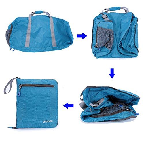 enknight 55L 75L Travel wasserdicht Faltbare Duffle Tasche Gepäck Tasche Sport Gym Bag Blau