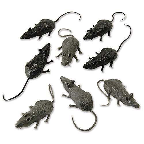 Ratte Kleid (Bristol Novelty ak034Scary Stuff Mäuse (8/Pkt))