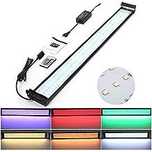 Amzdeal Lámpara Acuario Luces Impermeable LED paraAcuarios de Peces y Estanquescon Control Remoto (180 granos de la lámpara)