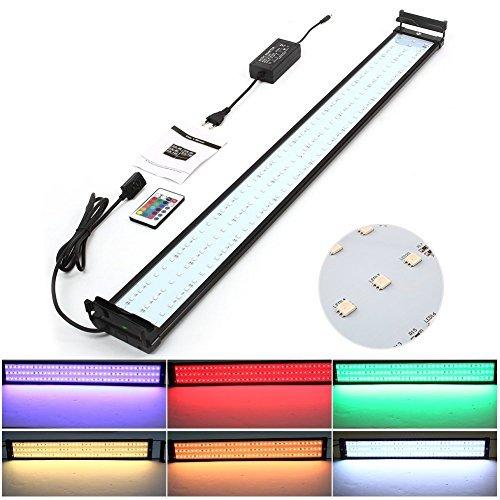 Lámpara LED para acuarios Amzdeal con control remoto por 24,49€ usando el #código: YIAI6SFI