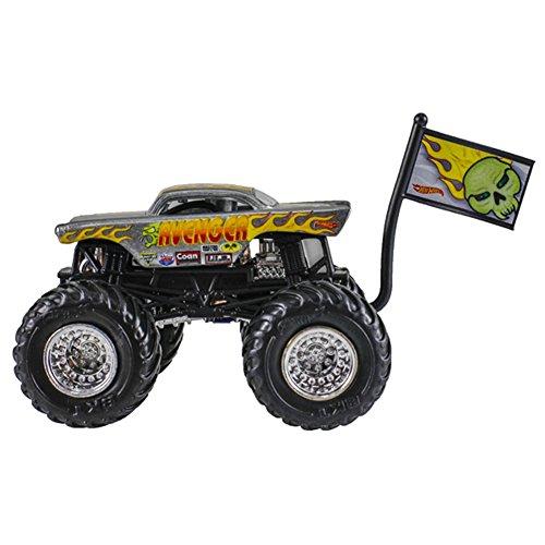 Mattel Hot Wheels Monster Jam Monster-Truck mit Team Flagge (Avenger)