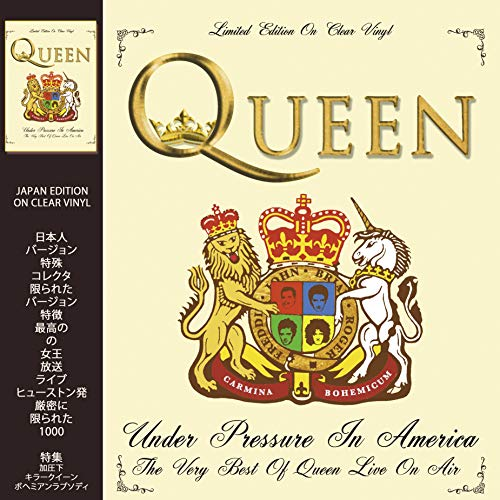 QUEEN - UNDER PRESSURE IN AMERICA: LIMITED EDITION ON CLEAR VINYL