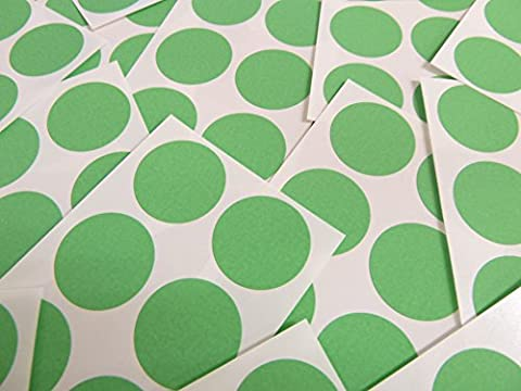 Minilabel 25mm (1 Inch) Round Circular Self-Adhesive Sticky Dot Labels, Coloured Stickers - Light Green Circles (Pack of 102)