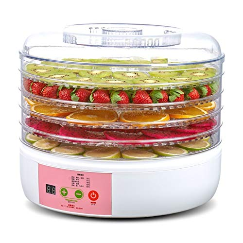 Vruta Electric Excalibur Food dehydrator Machine Fruits Vegetable Dryer Beef Snack Jerky White Fruit Dehydrator (34x33x26,Transparent)