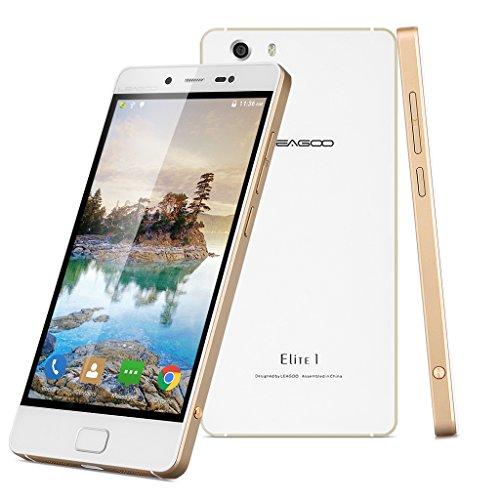 Leagoo Elite 1 - 4G Smartphone, Libre Android 5.1 ( Pantalla 5.0'' 1920x1080 FHD, Octa Core, 3Gb Ram 32Gb Rom, Cámara 13Mp, Touch ID, Air Gesture) (Dorado)
