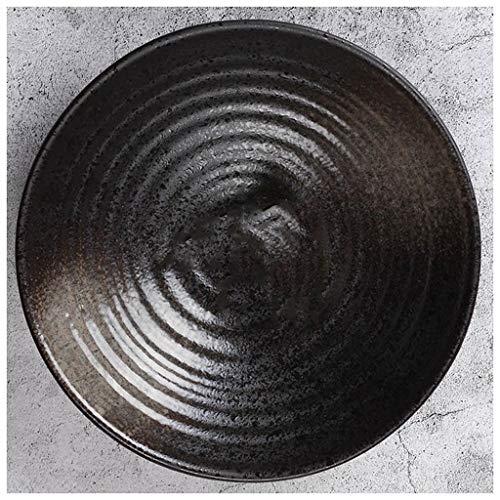 CJW Assiette en céramique gommage noir - Salade en céramique vintage créative