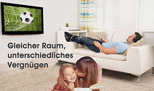 TV Funk Kopfhörer, Jelly Comb Funkkopfhörer mit Lautstärke-Regler, Multifunktions-Ladestation für TV und alle Ihre Multimedia-Gerät - 8