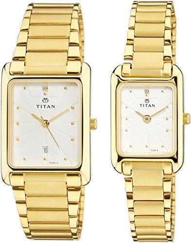 51kbV3MRD6L - Titan NC531193YM04 Bandhan Couple watch