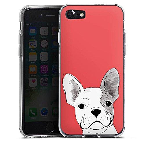 Apple iPhone X Silikon Hülle Case Schutzhülle Französische Bulldogge Hund Dog Silikon Case transparent