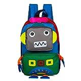 Childrens Satchel Bag Travel Backpack Kids Schoolbag Book Backpack, Blue Robot