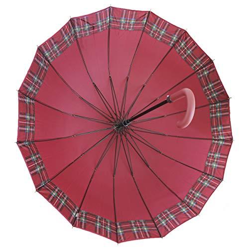 FERETI Paragua Cuadros Rojo Escoceses Inglaterra Inglés