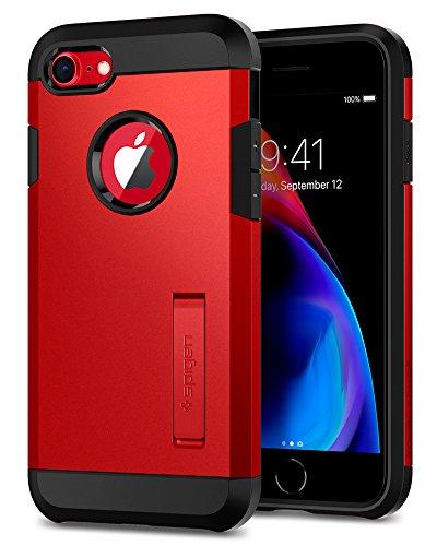 spigen [Tough Armor 2ª generación Funda iPhone 7/8 con Extrema protección y Tecnología de cojín de Aire con Kickstand para iPhone 7 (2016) / iPhone 8 (2017) [Rojo]