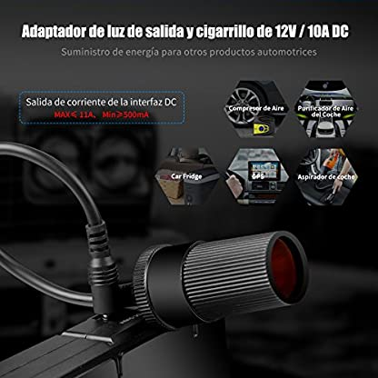 ABOX TrekPow Arrancador de Baterías de Coche G22, 1500A Arrancador de Coches con USB de 3.0 Puertos de Carga Rápida – para 6.5L de Diesel o 8.0L de Gasolina