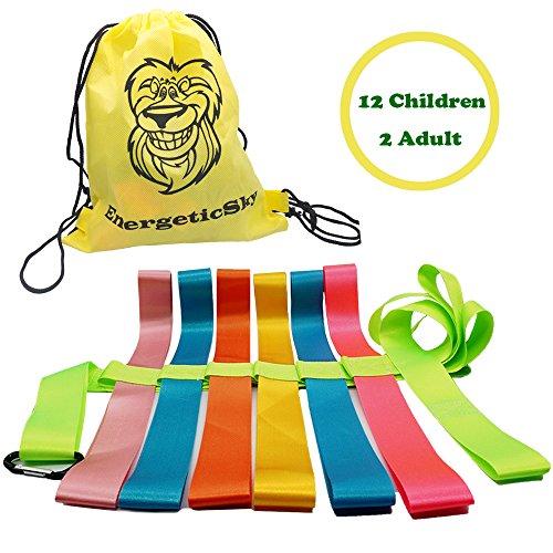Songwin Kinder Sicherheit Wandern Seil,Seil Leine gehen Hand Gürtel für 12 Kinder-perfekt für Kindertagesstätten Schulen und Lehrer (Tragetasche inklusive). (Grün(143in)) (Leine Führen Nylon)