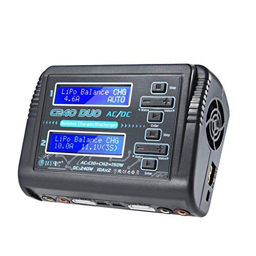 HuaMore HTRC C240 Dual Channel RC Auto Balance Lipo Akku 1-6S Smart Ladegerät