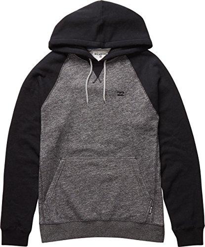 BILLABONG Herren Balance Pullover Kapuzenpullover, Black Heather, L Twill Hooded Fleece-sweatshirt