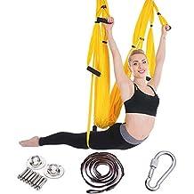 QAZSE Hamaca de yoga aérea Accesorios para exteriores de interior Columpio de gimnasio,Style-Size,250CM*150CM-D