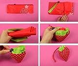 SODIAL(Wz.) Erdbeereform Zusammengeklappt Faltbar Wiederverwendbar Kompakt Umweltfreundlich Wiederverwertungstasche Einkaufstasche - 2