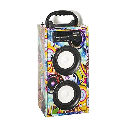 Reproductor DigiVolt BT-2008 by MovilCom | altavoz bluetooth radio FM MP3 USB Entrada AUX Mando, Graffiti