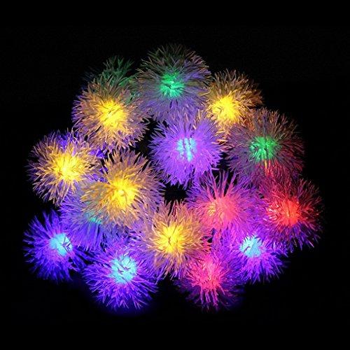 Stringa Led Solare, 20 LEDs Forma di palla, impermeabile Stringa luci da esterno solari, stringa di luci per Giardini, patio, giardino, case, festa di Natale e albero, e tutti gli altri